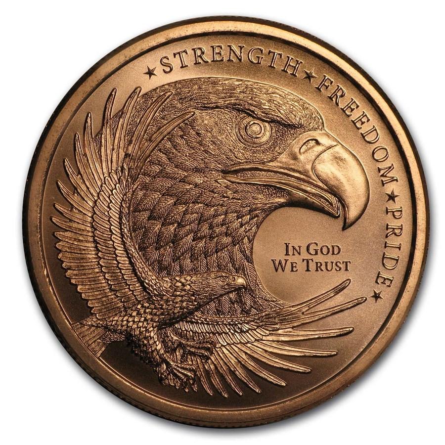 1 oz Copper Round - Eagle (Strength, Freedom, & Pride)