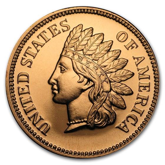 1 oz Copper Round - Indian Head Cent
