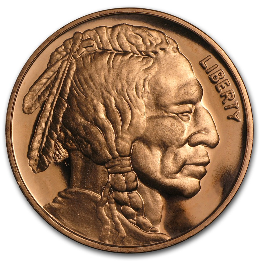 1 oz Copper Round - Indian Head