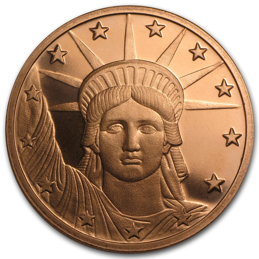1 oz Copper Round - Liberty Head