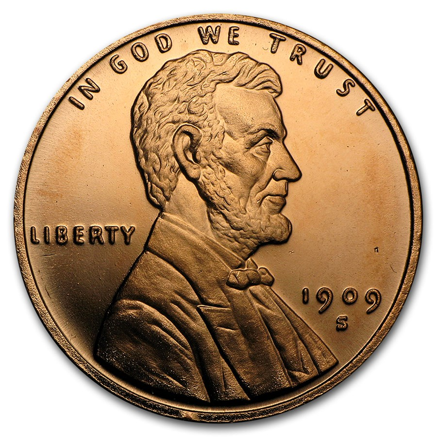 1 oz Copper Round - Lincoln Wheat Cent