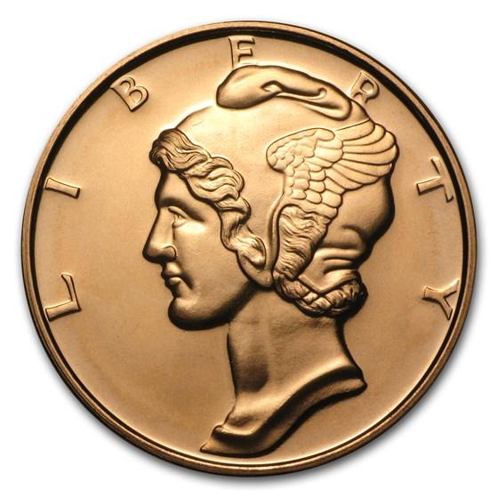 1 oz Copper Round - Mercury Dime