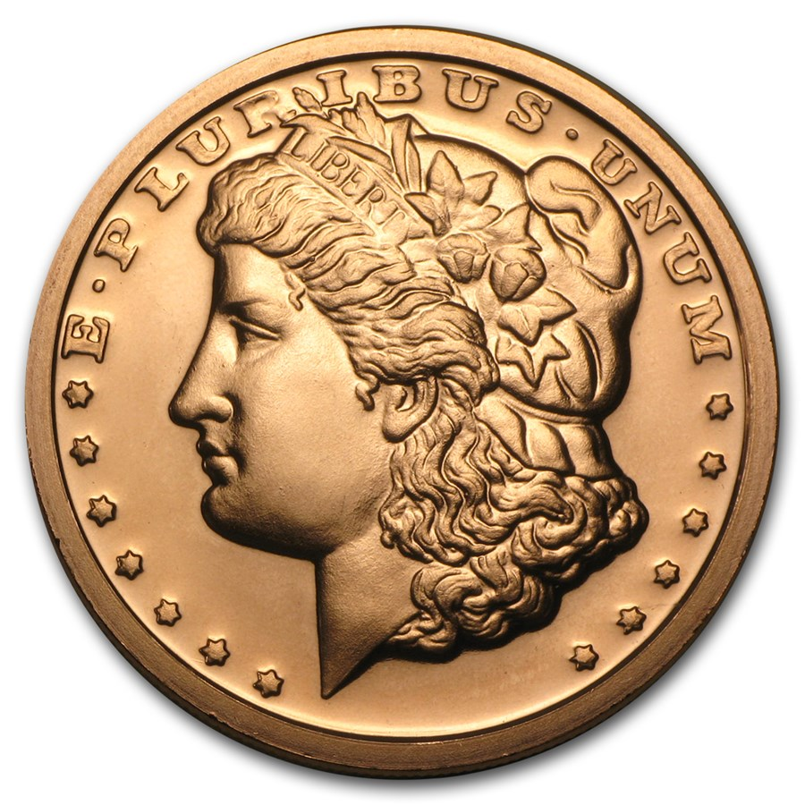 1 oz Copper Round - Morgan Dollar Design