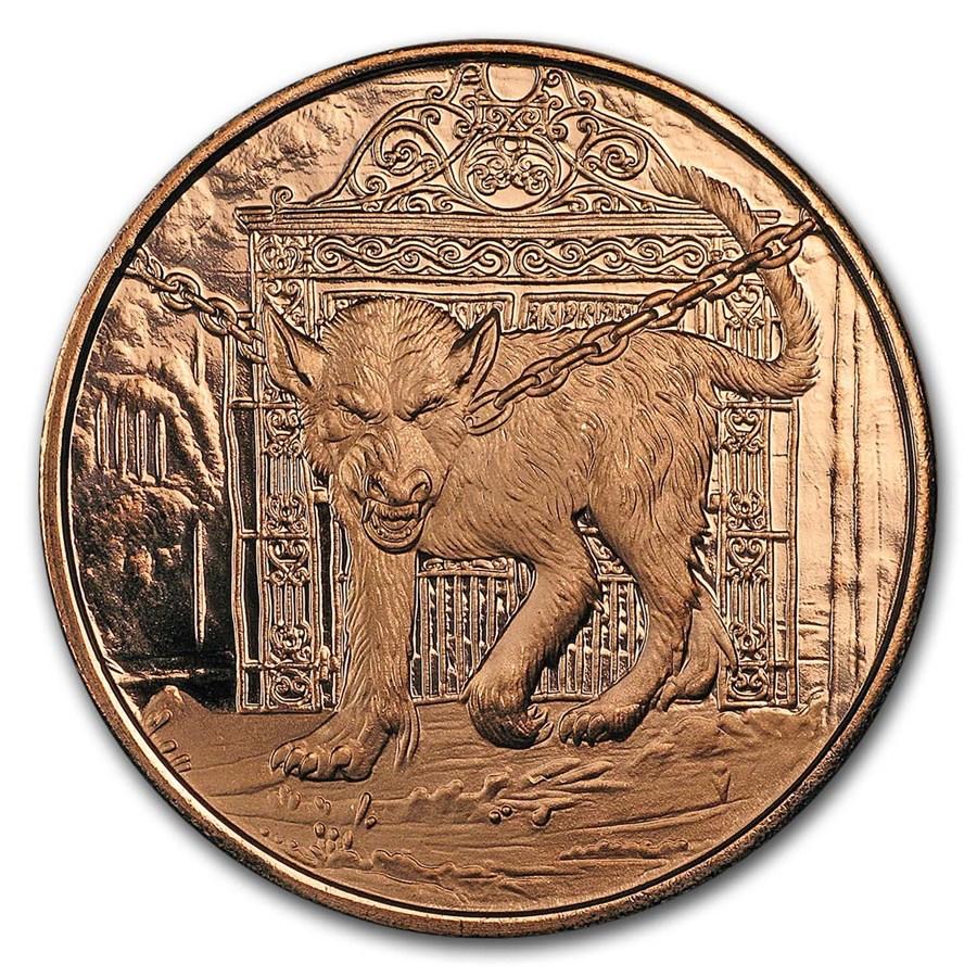 1 oz Copper Round - Nordic Creatures: Garm