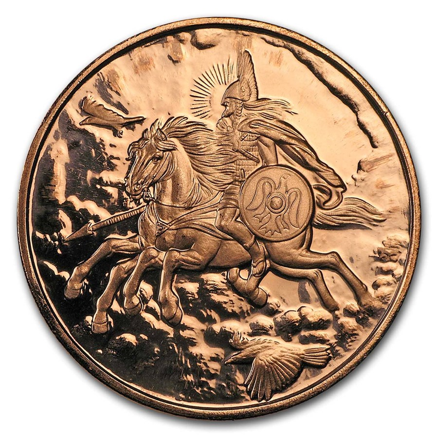 1 oz Copper Round - Nordic Creatures: Sleipnir