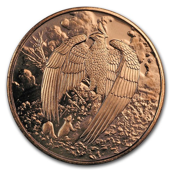 1 oz Copper Round - Nordic Creatures: The Great Eagle