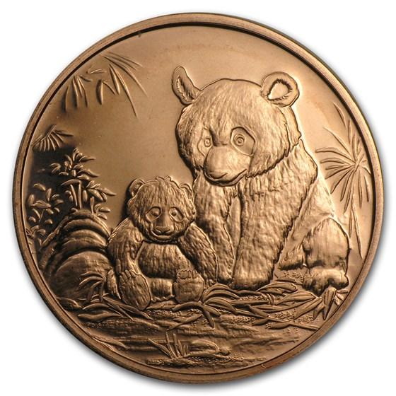 1 oz Copper Round - Panda