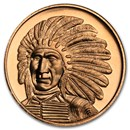 1 oz Copper Round - Red Cloud