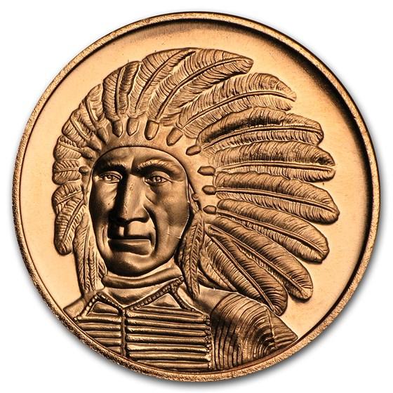 1 oz Copper Round - Red Cloud