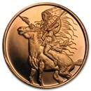 1 oz Copper Round - Red Horse