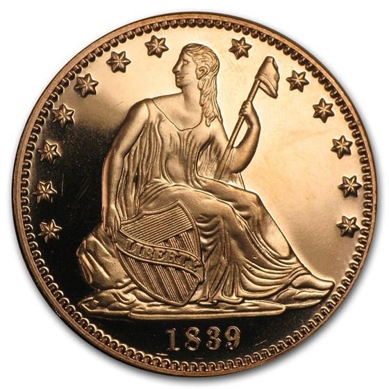 1 oz Copper Round - Seated Liberty