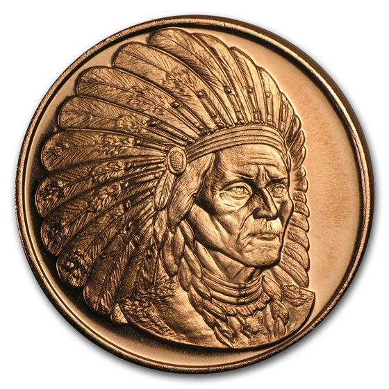 1 oz Copper Round - Sitting Bull