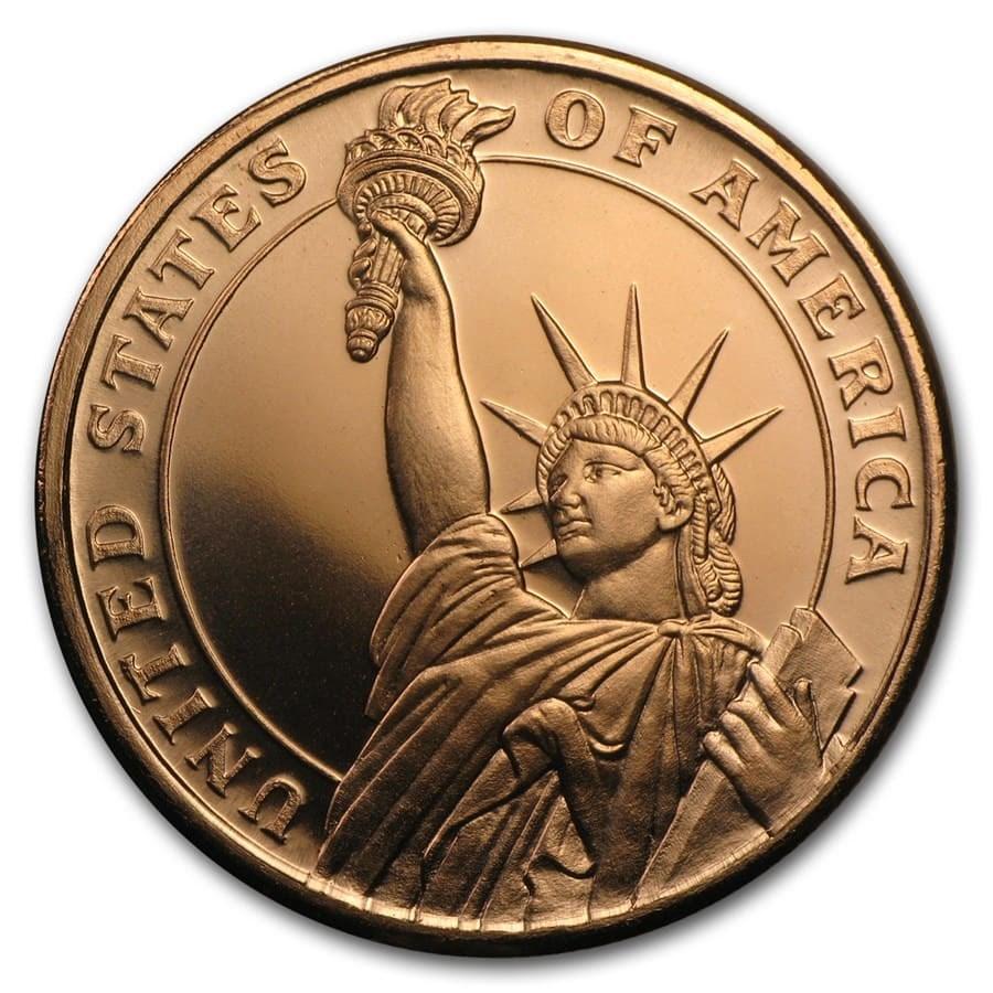 1 oz Copper Round - Statue of Liberty