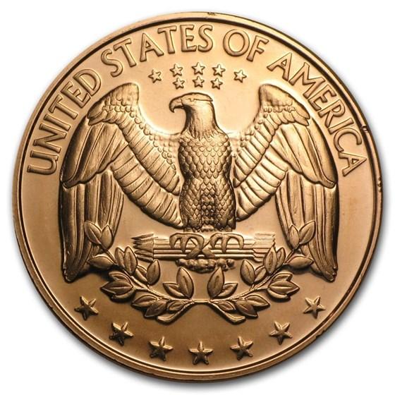 1 oz Copper Round - U.S. Quarter