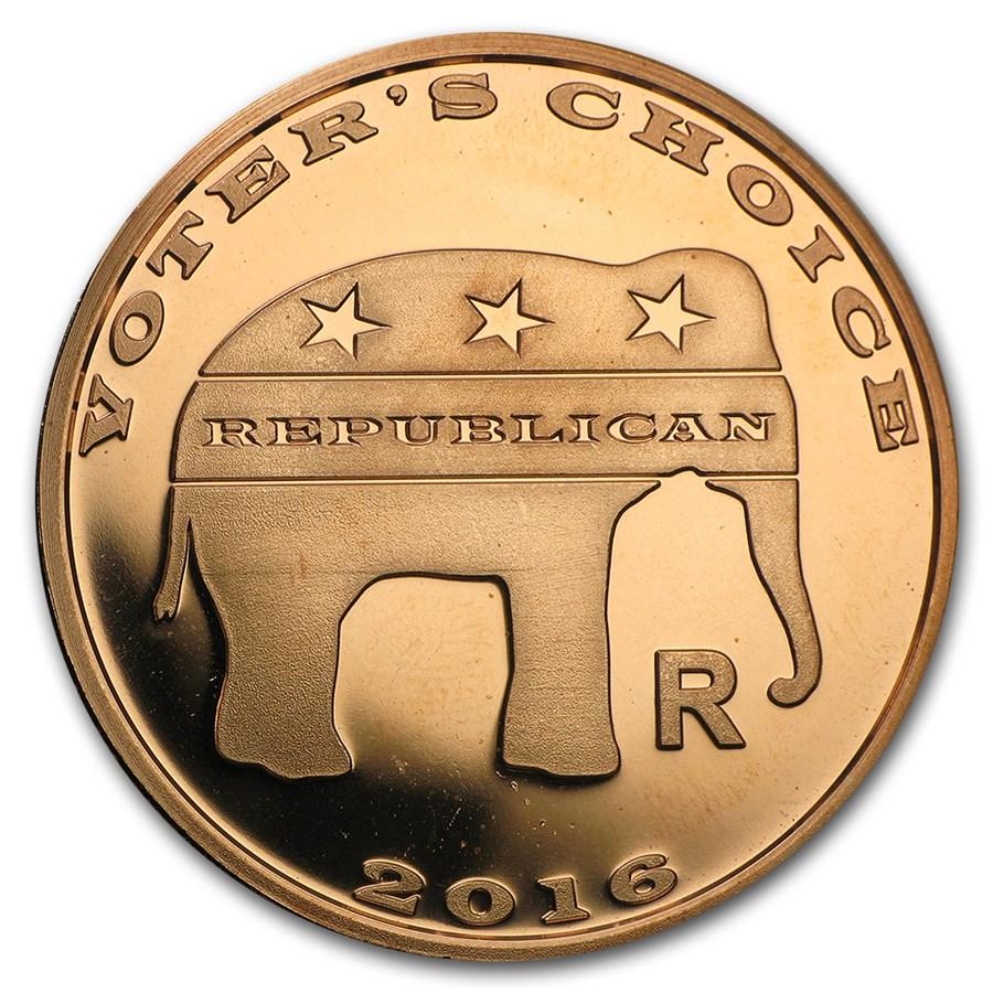 1 oz Copper Round - Voter's Choice