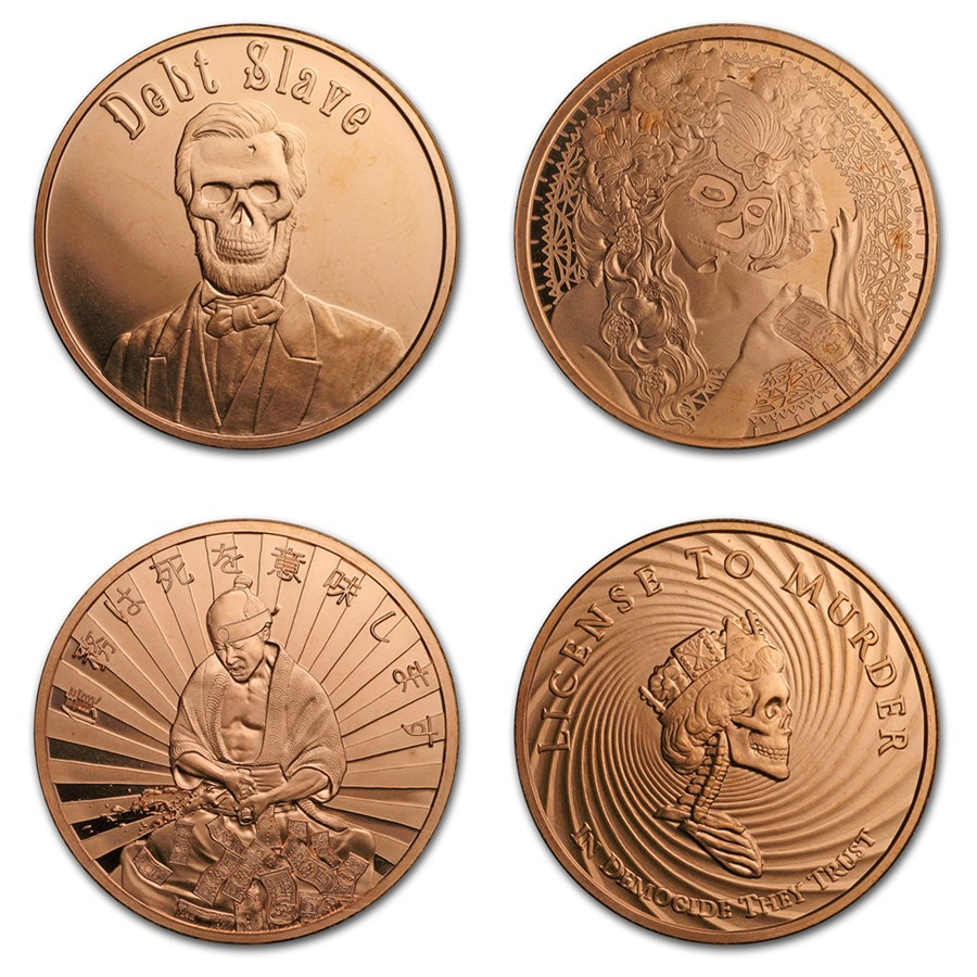 1 oz Copper Shield Round - MiniMintage Random Year & Design