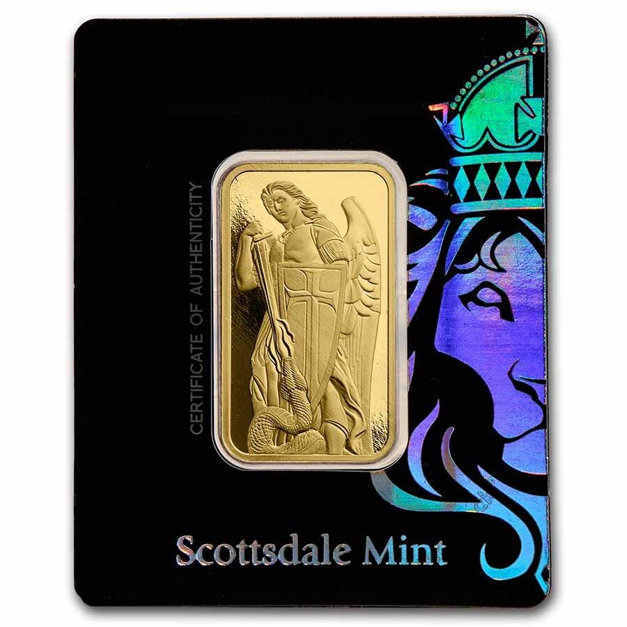 1 oz Gold Bar - Archangel Michael (in Assay)