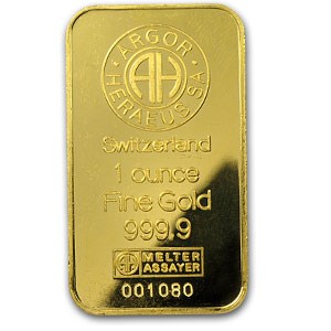 1 oz Gold Bar - Argor-Heraeus (Hologram)