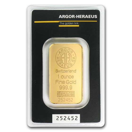 1 oz Gold Bar - Argor-Heraeus (In Assay)