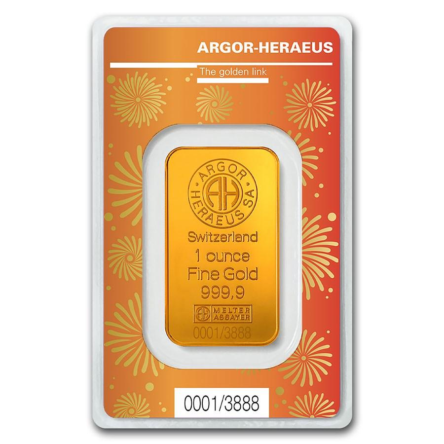 1 oz Gold Bar - Argor-Heraeus Year of the Ox (In Assay)