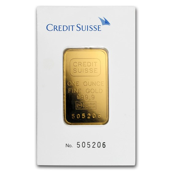 1 oz Gold Bar - Credit Suisse (Classic Assay)