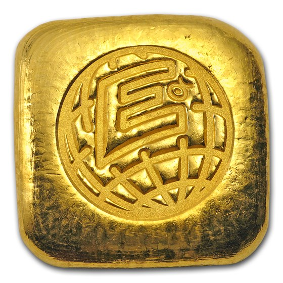 1 oz Gold Bar - Engelhard-Australia (Poured, Square)