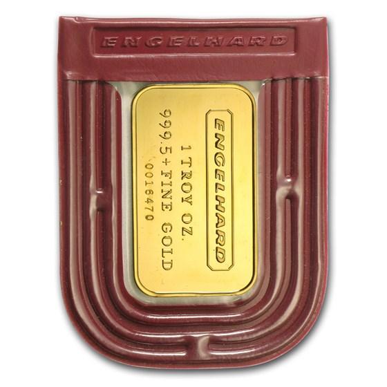 1 oz Gold Bar - Engelhard (Original Packing, Frosted Reverse)