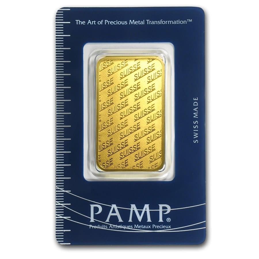 1 oz Gold Bar - PAMP Suisse New Design (In Assay)