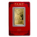 1 oz Gold Bar - PAMP Suisse Year of the Ox (In Assay)