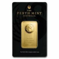 1 oz Gold Bar - Perth Mint (In Assay)