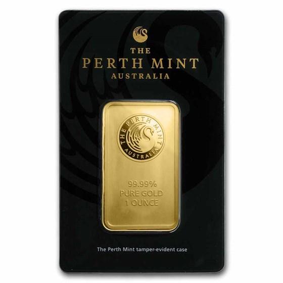 1 oz Gold Bar - Perth Mint (In Assay)