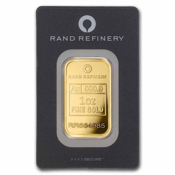 1 oz Gold Bar - Rand (Black Assay)