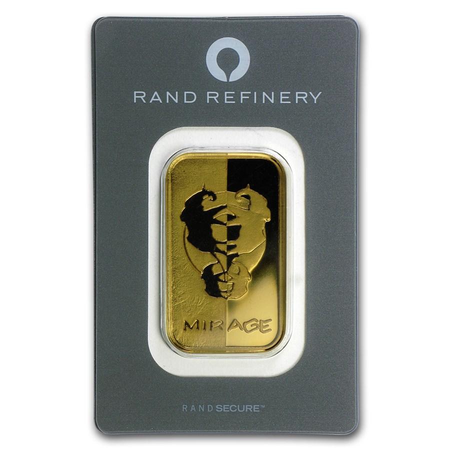 1 oz Gold Bar - Rand Elephant Mirage (In Assay)