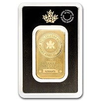 1 oz Gold Bar - Royal Canadian Mint New Design (In Assay)