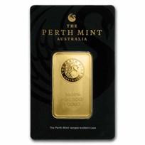 1 oz Gold Bar - The Perth Mint (In Assay)