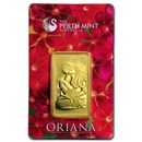 1 oz Gold Bar - The Perth Mint Oriana Design (In Assay)