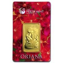1 oz Gold Bar - The Perth Mint Oriana Design (In Assay)