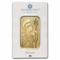 1 oz Gold Bar - The Royal Mint Britannia (In Assay)