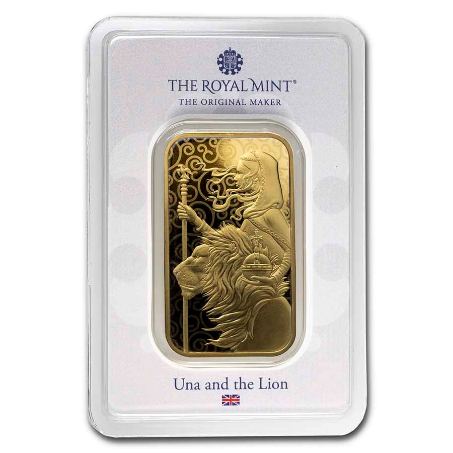 1 oz Gold Bar - The Royal Mint Una and the Lion
