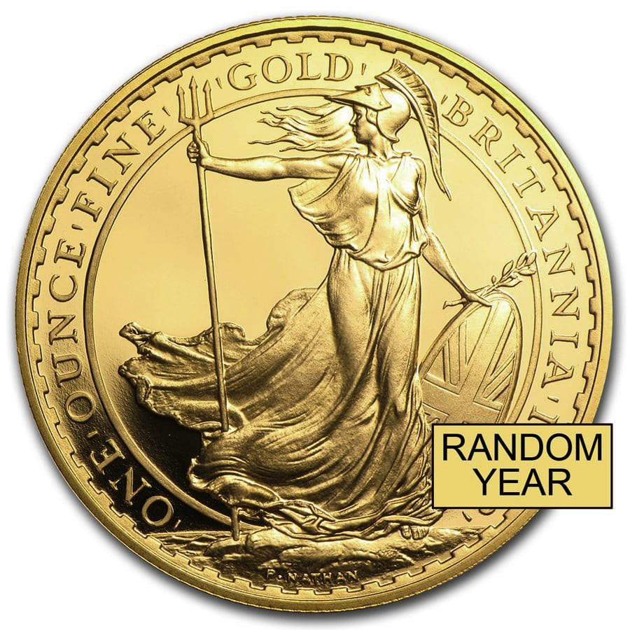 1 oz Gold Britannia BU/Proof Coin (Random Year)