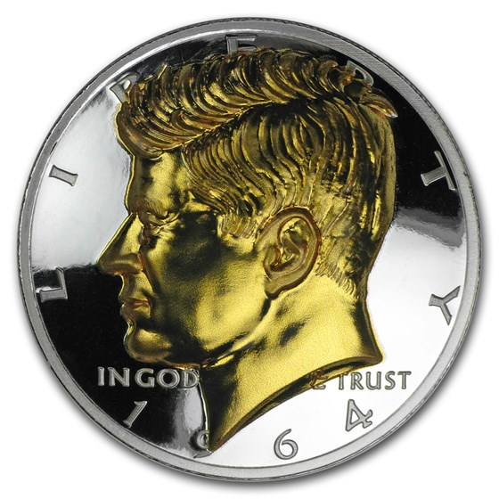 1 oz Gold Gilded Silver Round - American Legacy: JFK (CoA Only)