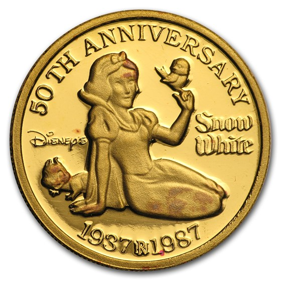 1 oz Gold Round - Disney Snow White 50th Anniversary