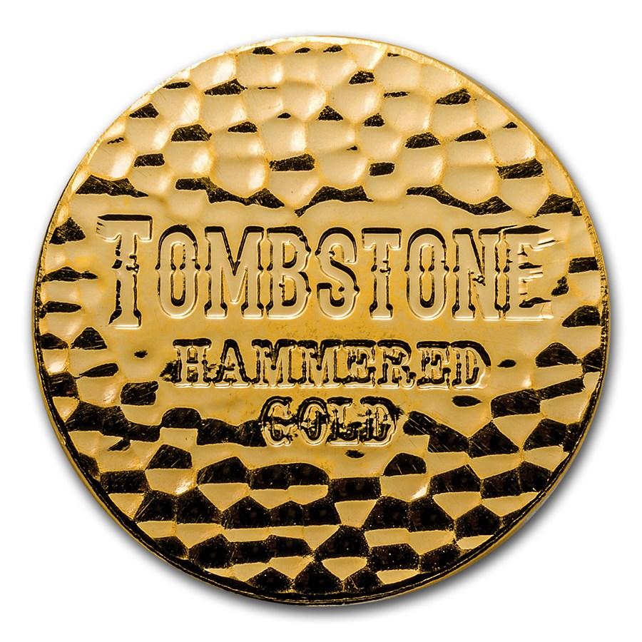1 oz Gold Round - Scottsdale Tombstone Hammered Gold Piece