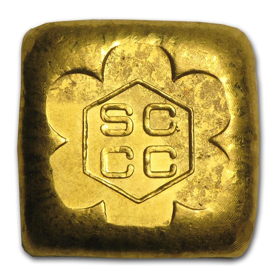 1 oz Gold Square Button - SRM