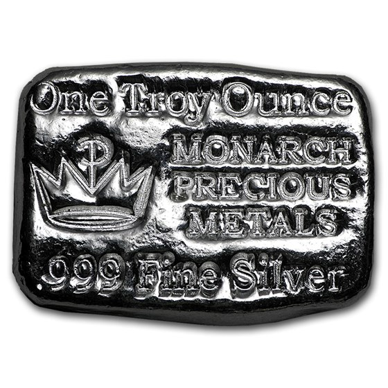 1 oz Hand Poured Silver Bar - MPM