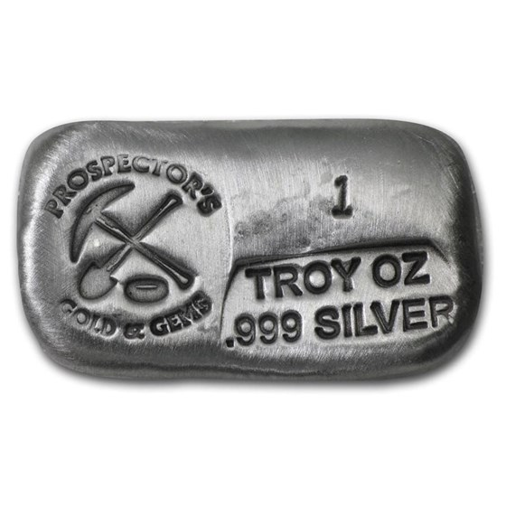 1 oz Hand Poured Silver Bar - PG & G