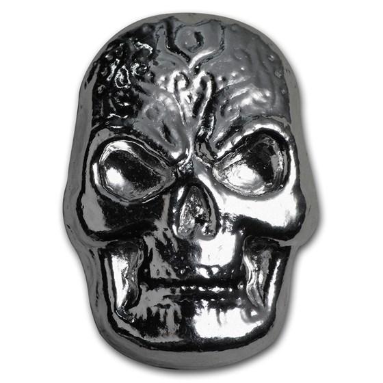 1 oz Hand Poured Silver - Celtic Skull