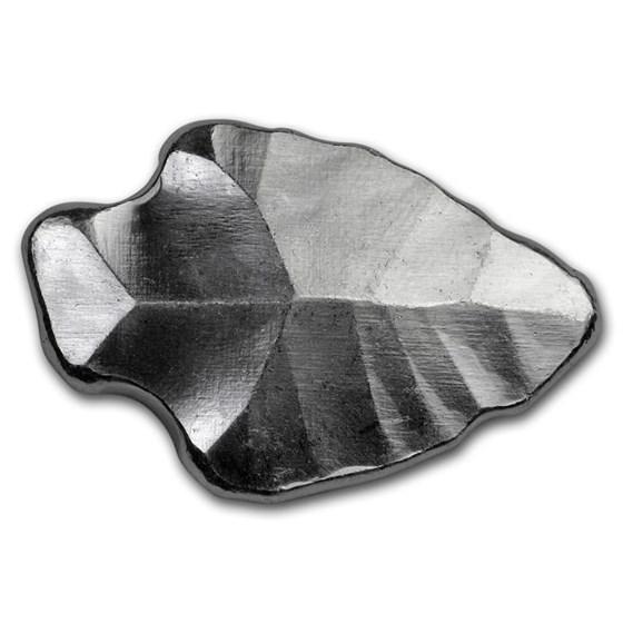 1 oz Hand Poured Silver - MPM (Indian Arrowhead)