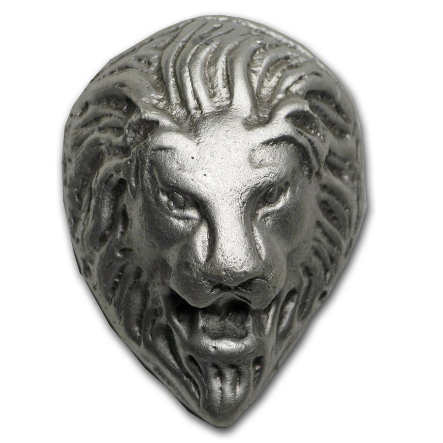 1 oz Hand Poured Silver - Ounce of Pride, Lion Head