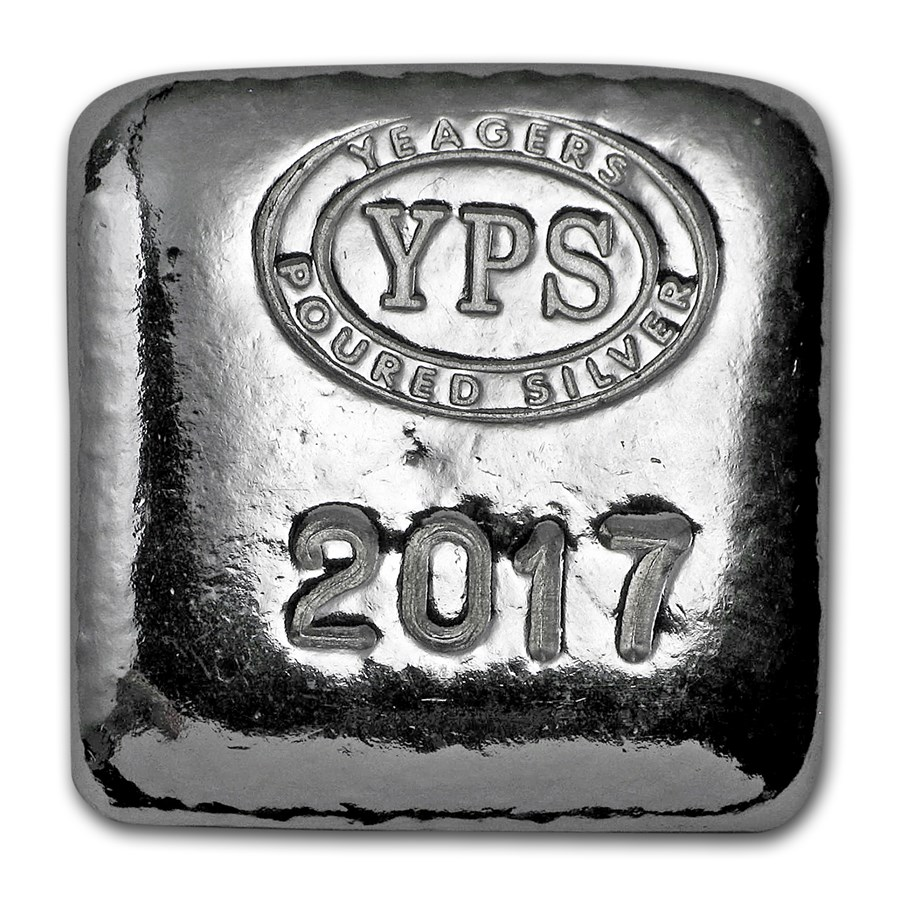 1 oz Hand Poured Silver Square - 2017 Edition